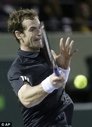 Kit change: Murray put a new black shirt on for the final set before he closed out the victory