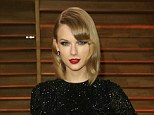 Safe: Taylor Swift has obtained a three-year restraining order against a man who threatened to murder anyone who came between them, Swift pictured at the Vanity Fair Oscars party earlier this month