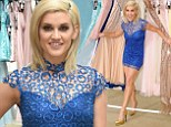 'Rockin' Charisma in electric blue': Ashley Roberts flashes pins in short 1960s-style dress at launch of Spring fashion collection