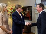 Holland¿s Queen Maxima proves to be a distraction for David Cameron at the nuclear security summit in The Hague. Royal Palace Huis ten Bosch