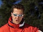 A file picture dated 11 January 2000 shows German the Formula One Ferrari driver Michael Schumacher carving a turn while skiing at the Italian resort of Madonna di Campiglio