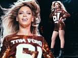 S-s-scaling new fashion heights: Beyoncé's custom-made cobra skin jumpsuit is halted at European customs... but slithers through in time for final shows