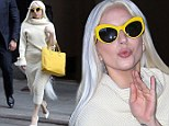 Elegant and feminine: Lady Gaga looked decidedly less out of the ordinary as she stepped out in New York City on Monday