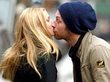 Affectionate: The private pair were seen kissing in New York in 2003