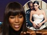 Naomi and Kim Kardashian and Kayne Vogue Cover