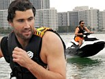 Boys and their toys! Brody Jenner shows off his action man skills as he test drives a new SeaDoo jet ski