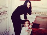 'Why do they have to grow up so fast?' Nostalgic Madonna shares cute picture of daughter Lourdes, 17, as a young child