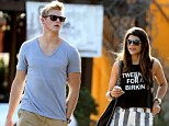 Lunch date: Alexander Ludwig and his model girlfriend Nicole Pedra went to the Brentwood Country Mart in Brentwood, California, on Monday