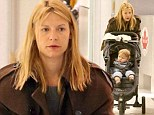 Claire Danes arrives at Toronto Pearson International Airport with baby Cyrus from a flight from LA