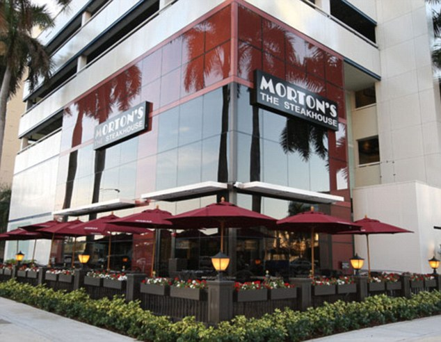 Handover: On January 7, a witness working undercover for the IRS met Maye and Thomason at Morton's steakhouse in Fort Lauderdale