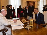 Historic visit: Pope Francis (left) meets with U.S. President Barack Obama at the Vatican