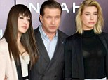 Stephen Baldwin escorts his model daughters Alaia and Hailey to Noah premiere in NYC