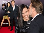 Jennifer Connelly and Russell Crowe arrive to the American premiere of Noah at the Ziegfeld Theatre in New York City