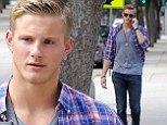 Out and about: Alexander Ludwig was seen enjoying a casual day out in Santa Monica in Los Angeles on Wednesday