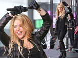 Live: Shakira performed in the Big Apple as part of the Today show¿s special spring concert series