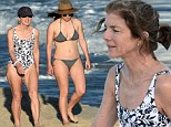 Going swimmingly! Caroline Kennedy has a great time lazing around on the beach with her family in St Barts