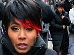 First look! Jada Pinkett Smith reveals her true colours debuting red dipped hair as sadistic gangster Fish Mooney for new series Gotham