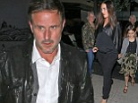 Actor David Arquette spotted heading for dinner with his pregnant girlfriend and daughter