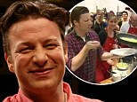 Jamie Oliver gives a cooking lesson to fans in Geelong (and shows them how to learn from making mistakes by messing up his omelet!)