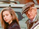 Father-daughter day: Woody Allen stepped out with his youngster daughter Manzie on Wednesday in Manhattan