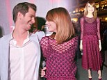Crazy, Stupid, Love: Emma Stone and boyfriend Andrew Garfield smile at each other adoringly at Amazing Spider-Man 2 fan event in Singapore
