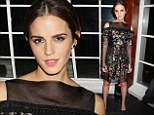 There's Noah stopping her: Emma Watson changes into black layered gauze dress with floral pattern for premiere afterparty