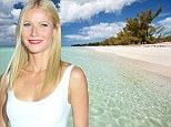 Gwyneth Paltrow says it's easier to work a desk job and raise children than be a mommy movie star (as she lounges on the exclusive Bahamas island of Eleuthera)