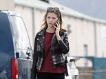 Natural beauty: Anna Kendrick went makeup-free as she headed into the studio in Burbank, California, on Wednesday