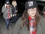 True Detectives on the case! Ellen Page goes under cover in plaid shirt, jacket and cap during night out with BFF Kate Mara