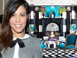 Not one for the migraine sufferers! Kourtney Kardashian puts her 'Alice in Wonderland meets Beetlejuice' themed house on market
