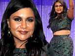Working it: Mindy Kaling flashed several inches of her midriff in a crop top and pencil skirt as she participated in a panel discussing The Mindy Project at Paleyfest in Hollywood on Tuesday