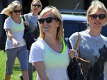 Reece Witherspoon and Naomi Watts leave yoga class in California together