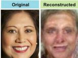 The researchers say they were able to reconstruct the faces because we process far more information about faces that other images we see