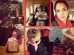 Heading home! On Friday, Jessica Alba Instagrammed a collage depicting her family's return trip to the United States after spending spring break in Europe