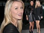 Battle of the bombshells! Joanna Krupa's star gets eclipsed by GG Gharachedaghi's sexy see-through top during girls night out