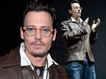 Sci-fi star: Johnny Depp made an appearance on Thursday at CinemaCon in Las Vegas and screened scenes from his upcoming film Transcendence