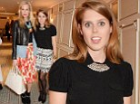 Princess Beatrice steps out in black and white mini skirt which shows off her slender legs as she attends star studded fashion event