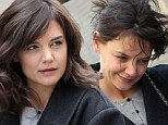 Katie Holmes, 35, reveals flecks of grey as she gets tresses transformed from ratty mess to voluminous do on set of TV pilot Dangerous Liaisons