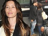 We're here! Justin Timberlake and wife Jessica Biel shared a passionate kiss as they landed in London for the European leg of his world tour