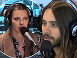 There's some tension there! Jared Leto tells Sophie Monk she's got a 'hot' voice in cheeky radio interview then invites her to his concert