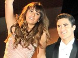 Lea Michele and Darren Criss demonstrate their impressive ballroom dancing skills as they film Glee Broadway duet