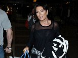 Strain: Kris Jenner, pictured arriving back into L.A. on Thursday, she completely denies the tape's existence