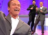 Watch out Dancing With The Stars! Arnold Schwarzenegger shows off his killer moves with co-star Joe Manganiello