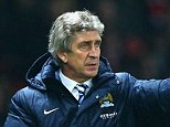 Keeping calm: Manuel Pellegrini has played down Manchester City's title chances