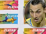 First past the post: Sweden captain Zlatan Ibrahimovic (right) has had his own set of stamps created by the Swedish Postal Service (Posten)
