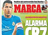 Injury concerns: Marca report that Cristiano Ronaldo has niggling knee tendon problems that have been affecting his performances over the last few weeks