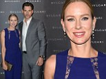Naomi Watts-ch is a timeless beauty in violet at Bvlgari watch unveiling with handsome in grey Eric Bana