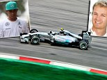 Strong position: Mercedes driver Nico Rosberg is looking like he could win the championship