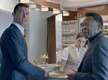 Meeting of greats: Ronaldo and Pele together in the advert