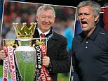 One love: Chelsea boss Jose Mourinho (right) told Sir Alex Ferguson (left) he planned on returning to Stamford Bridge this season